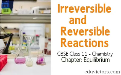 CBSE Class 11 - Chemistry - Chapter: Equilibrium  - What are  Irreversible and Reversible Reactions? (#eduvictors)(#cbse2020)(#class11Chemistry)