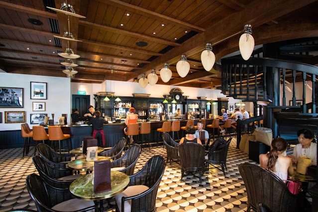 Bar del Raffles hotel-Singapore