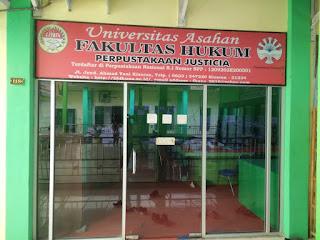 Perpustakaan Justicia FH Universitas Asahan