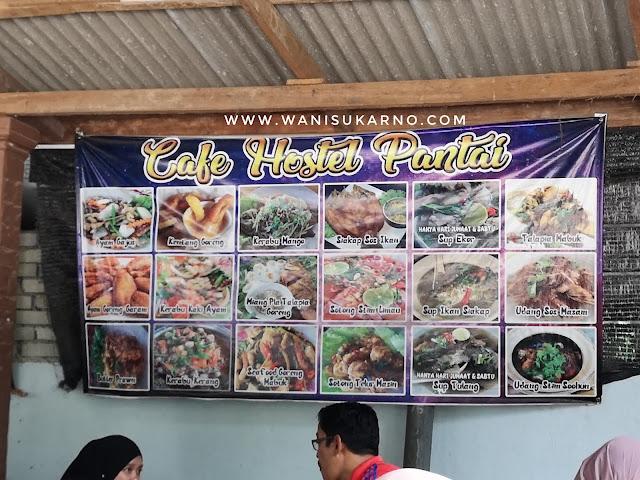 cafe hostel pantai