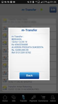 Pilih daftar transferan yang akan dicetak