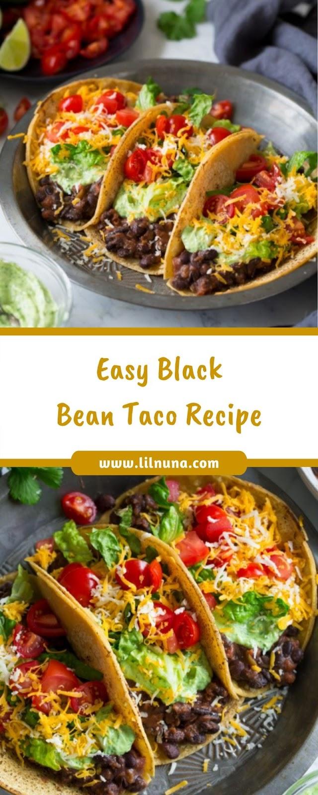 Easy Black Bean Taco Recipe