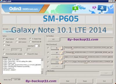 سوفت وير هاتف Galaxy Note 10.1 LTE 2014 موديل SM-P605 روم الاصلاح 4 ملفات تحميل مباشر