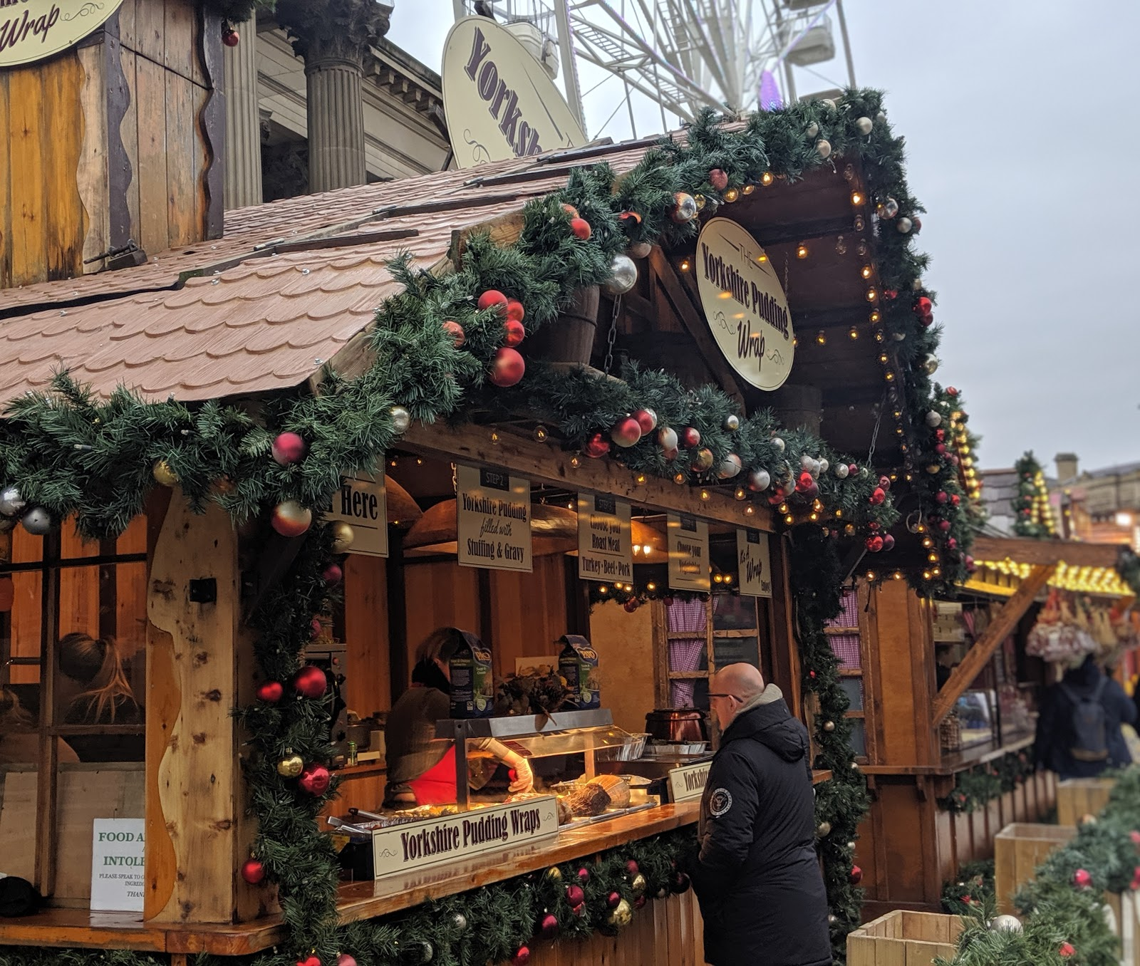A Guide to Visiting Liverpool Christmas Markets & Lights  - yorkshire pudding wraps
