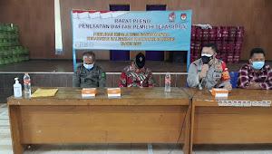 Kapolsek Baleendah Polresta Bandung Monitoring Rapat Pleno Penetapan DPT