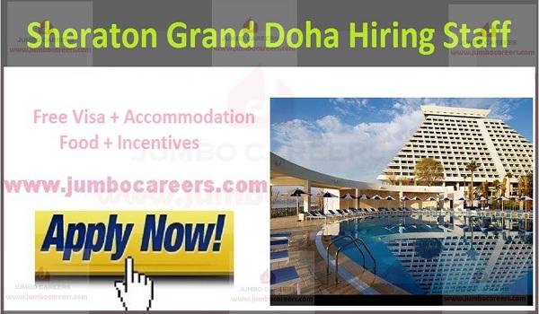 Free visa accommodation jobs in Qatar,
