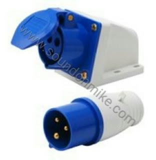 IP 44 wall mounted socket+plug 16A 3 pin