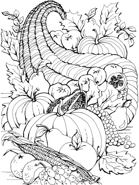 autumn scenes coloring book sample 05
