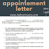 appointment letter sample doc and pdf