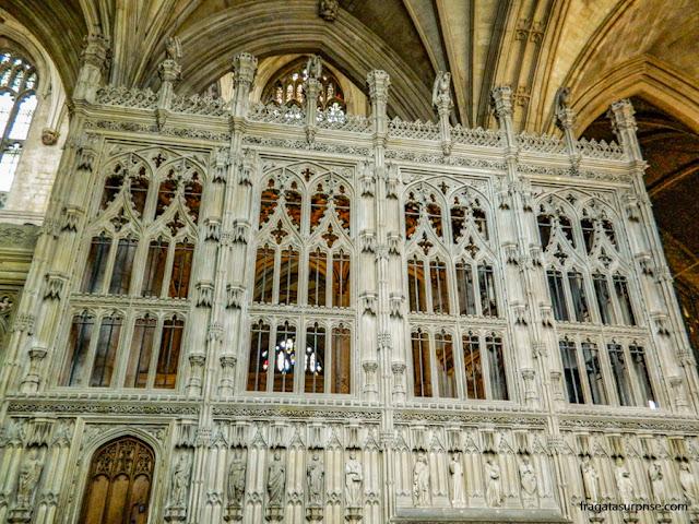 Detalhe do altar-mor da Catedral de Winchester