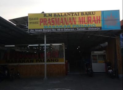 Rumah Makan Balantai Baru, Masakan Padang Prasmanan Murah