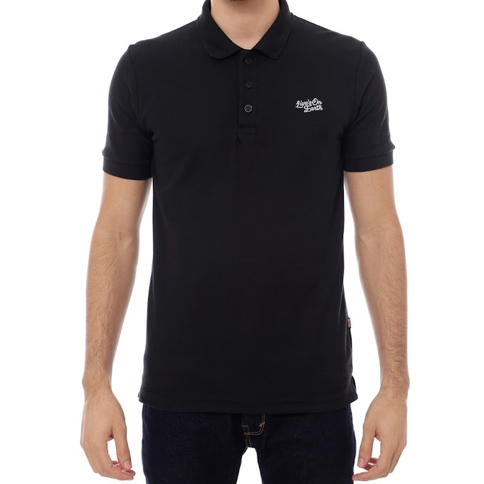 Polo Shirt Pria Premium FUEL Black