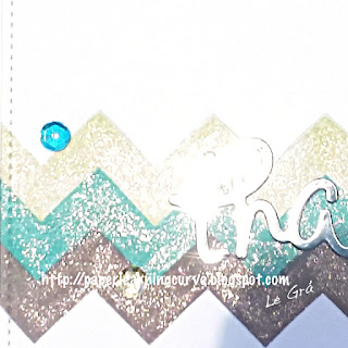Grá O'Neill - Paper Learning Curve - Lawn Fawn Chevron Backdrops, Stitched Squares, scripty thanks die