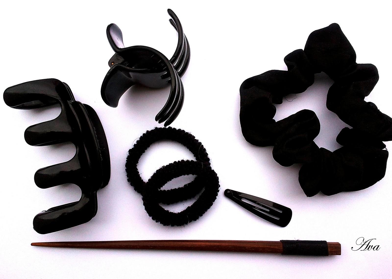 accessoires pour attacher cheveux longs. Black Bedroom Furniture Sets. Home Design Ideas