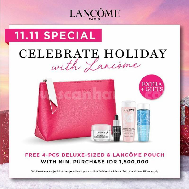 Lancome Paris 11.11 Celebrate Holiday Extra 4 Gifts