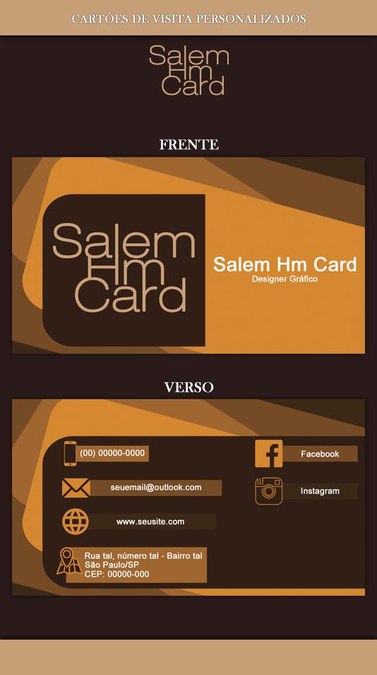Cartão de Visita - Modelo 1 - Designer Gráfico