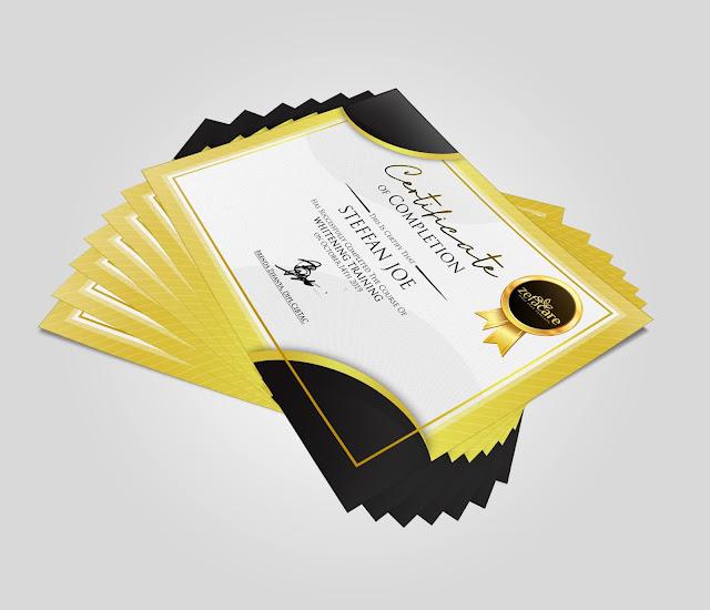contoh desain sertifikat terbaru