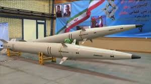 Iran test-fires ballistic missiles on targets at the Indian Ocean