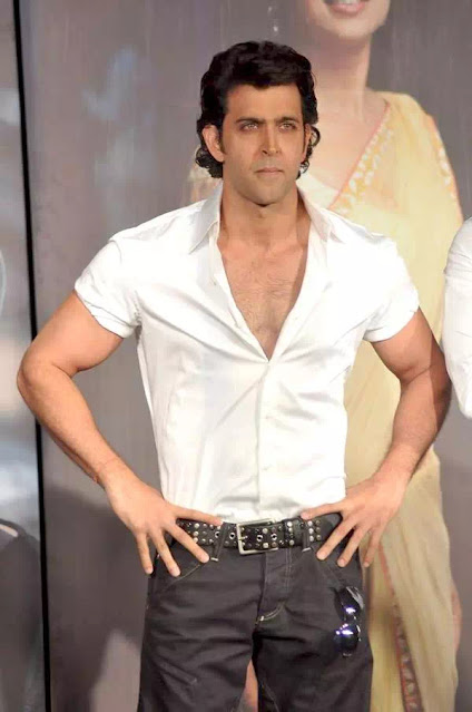 Hrithik Roshan Slicked Back Hairstyle