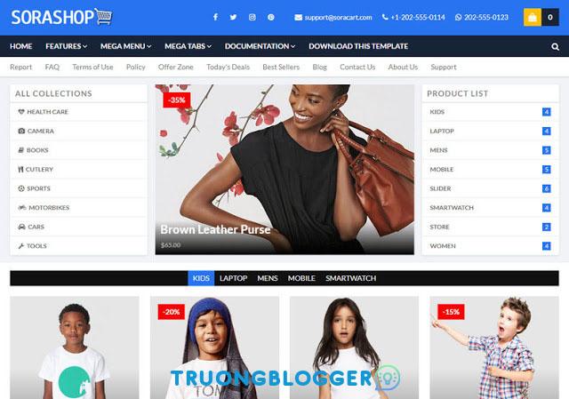 SoraShop V2 Premium Blogger Template