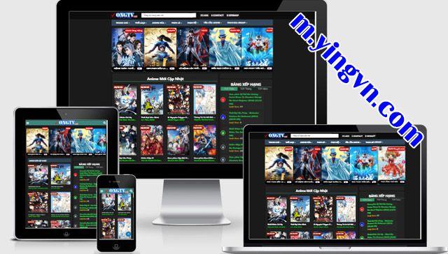 Anime TV template blogger