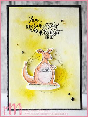 Stampin' Up! rosa Mädchen Kulmbach: Stamp A(r)ttack Blog Hop: neuer Katalog – Geburtstagskarten mit Wild auf Grüße, Perfekter Geburtstag und Brusho Crystal Colour