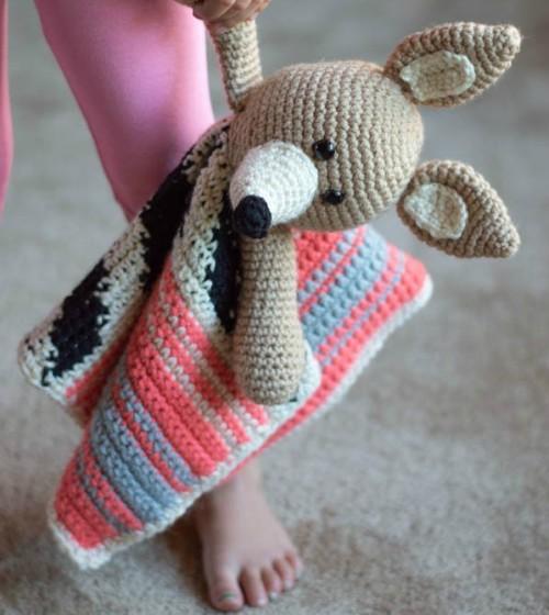 Crochet Serape Lovey - Free Crochet Pattern