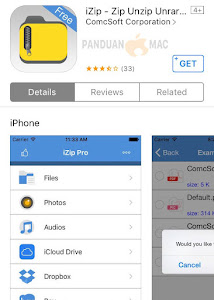 iZip iPhone dan iPad