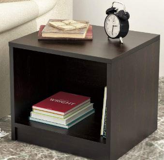 BLUEWUD Oliver Engineered Wood Side Table/End Table (Wenge)