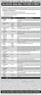 Pakistam Military Academy Jobs 2020 - Latest Jobs in Pakistan Military Academy November 2020