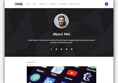 Codeify Blogger Template For Static Blog