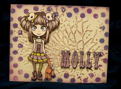 Visible Image character stamp Molly Girl