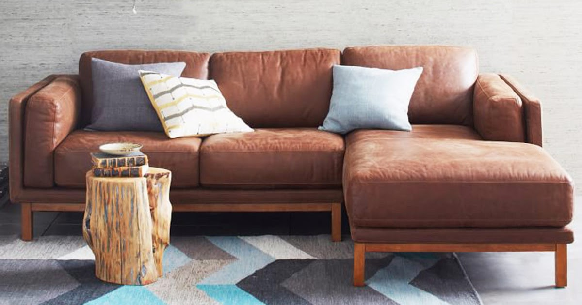 Furniture Galleries: Austin leather sofa pottery barn