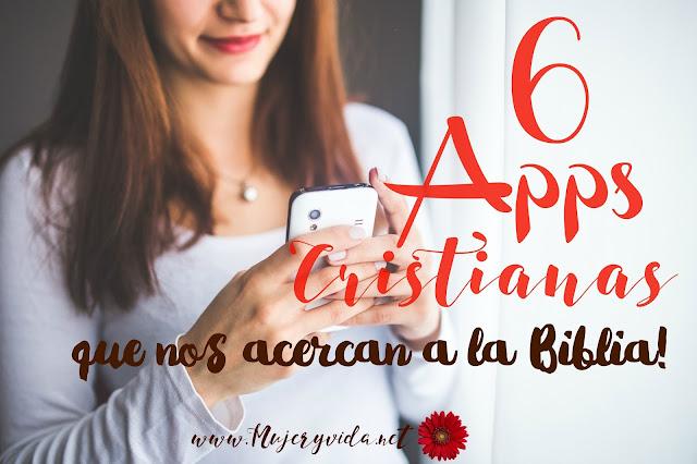 Apps, aplicaciones cristianas, celulares, mujer, Dios, Biblia