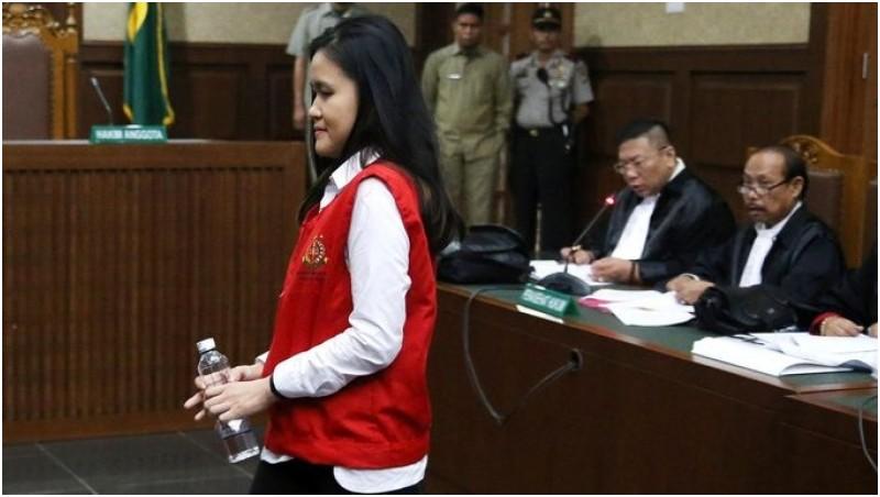 Jessica saat di sidang perdana PN Jakpus