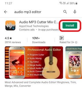 Audio MP3 Cutter app