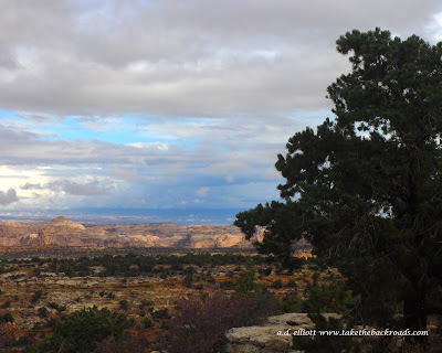 A landscape photograph of the canyons along I-70 in Utah and a blurb about what to do on Memorial Day.