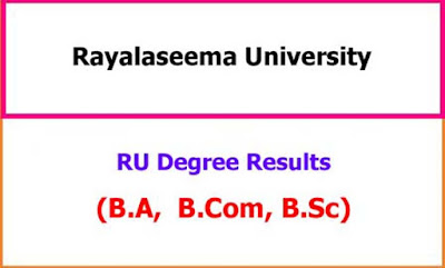 Rayalaseema University Degree Results 2021