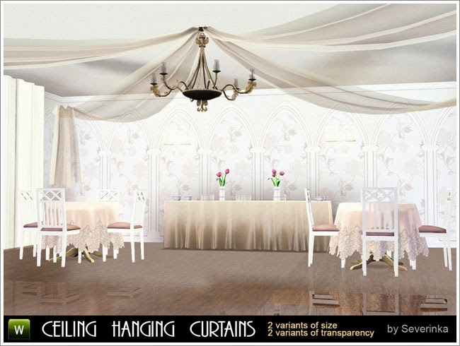 My Sims 3 Blog Ceiling Hanging Curtains By Severinka