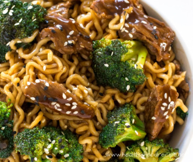 BEEF AND BROCOLLI RAMEN