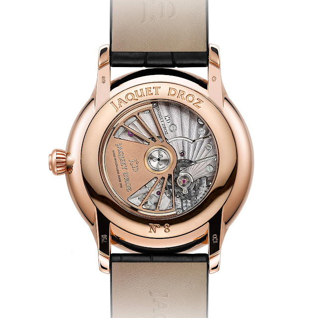 The movement of the Jaquet Droz Grande Seconde Dual Time ref J016033202
