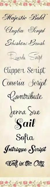 99 tipos de letras o fuentes cursivas para crear tarjetas de invitación  o felicitación