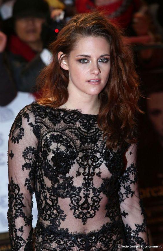 Kristen Stewart Hot in Black Dress