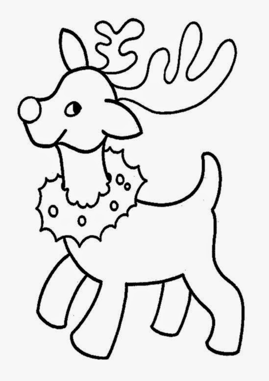 Christmas Reindeer Coloring Pages   AZ Coloring Pages