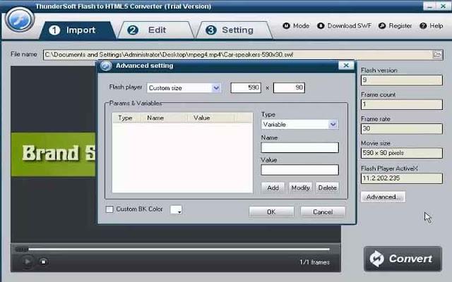 ThunderSoft Flash to HTML5 Converter 3.5.0.0 F.u.l.l - Chuyển đổi Flash sang html 5