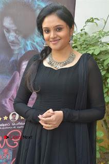 Actress Kala Kalyani Stills in Black Salwar Kameez at Engeyum Naan Iruppen Audio Launch  0007.jpg