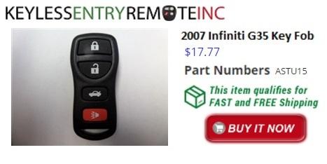 2007 Infiniti G35 Key Fob Remote Programming Instructions