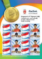 Source: SingPost. SingPost issues limited edition MyStamp sheets for Olympic games.
