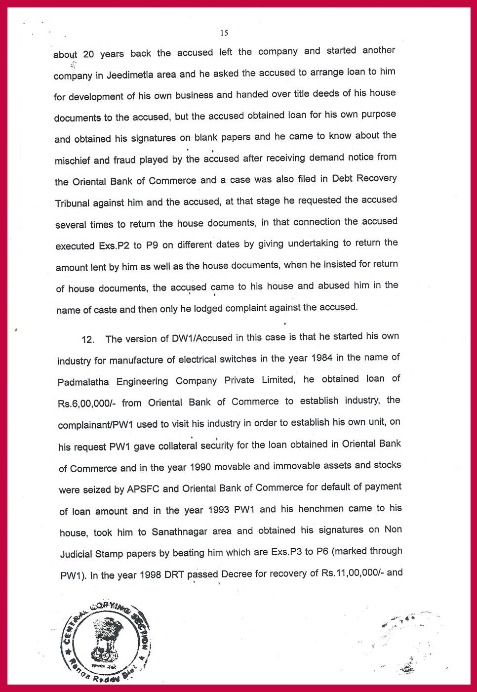 Ranga Reddy Court Judgment period 294 days-15
