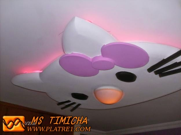 Hello kitty platre plafond platre - Decoration hello kitty chambre bebe ...